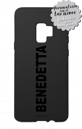 Cover Skin Feeling Samsung S9 BLACK - Nome Lineare max 13 caratteri