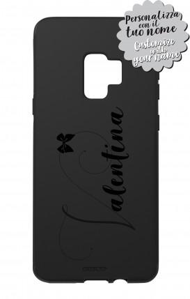 Cover Skin Feeling Samsung S9 BLACK - Nome Fiocco max 13 caratteri