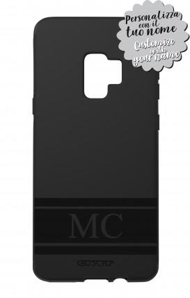Cover Skin Feeling Samsung S9 BLK - InizialiFascia max 3 caratteri