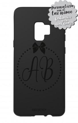 Cover Skin Feeling Samsung S9 BLACK - InizialiFiocco max 3 caratteri