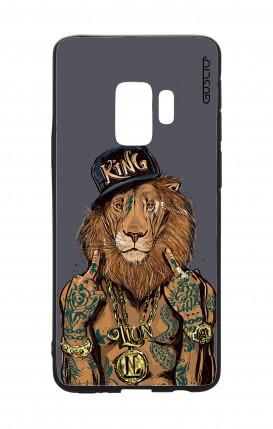 Cover Bicomponente Samsung S9Plus - Lion King grigio