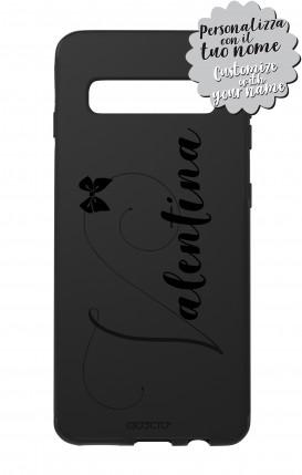 Case Skin Feeling Samsung S10 BLK - Nome Fiocco max 13 caratteri
