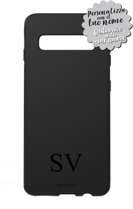 Case Skin Feeling Samsung S10 BLK - InizialiCifre max 3 caratteri