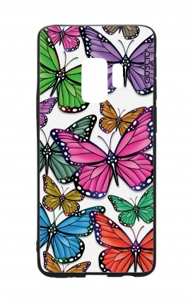 Samsung S9Plus WHT Two-Component Cover - Vivid butterflies Pattern