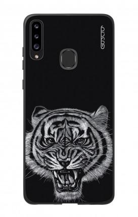 Cover Bicomponente Samsung A20s - Tigre nera