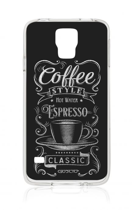 Cover Samsung Galaxy S5/S5 Neo - Coffee Style