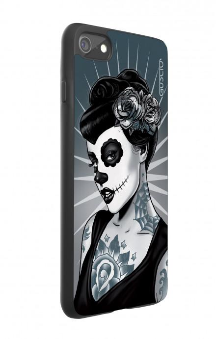 Cover Bicomponente Apple iPhone 7/8 - Calavera bianco e nero