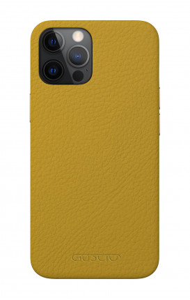 Luxury Leather Case Apple iPhone 12/12 PRO MUSTARD - Neutro