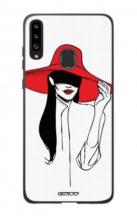 Cover Bicomponente Samsung A20s - Cappello rosso