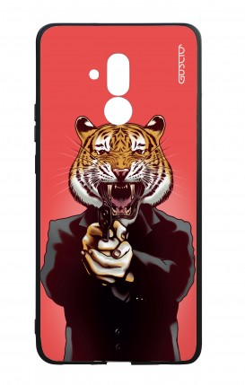 Huawei Mate20Lite WHT Two-Component Cover - Tiger with Gun