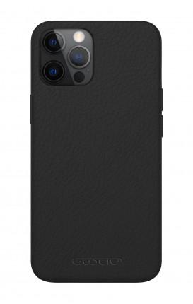 Luxury Leather Case Apple iPhone 12/12 PRO PURE BLACK - Neutro