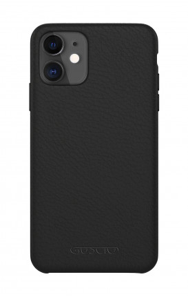 Luxury Leather Case Apple iPhone 11 PURE BLACK - Neutro