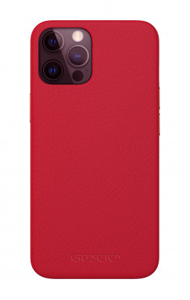 Luxury Leather Case Apple iPhone 12 PRO MAX RUBY RED - Neutro
