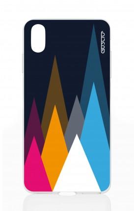 Cover Apple iPhone XS MAX - Cime su fondo Blu