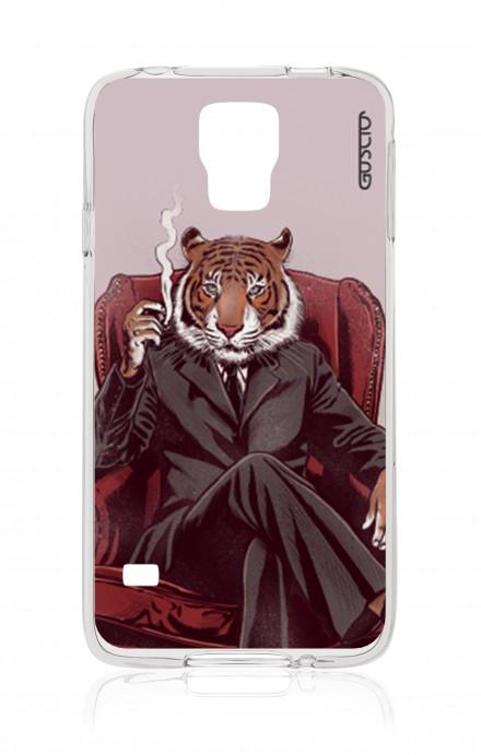 Cover Samsung Galaxy S5/S5 Neo - Tigre elegante