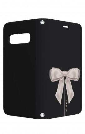 Case STAND VStyle Samsung S10 - Satin White Ribbon