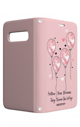 Case STAND VStyle Samsung S10 - Pink Balloon