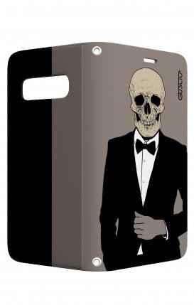 Case STAND VStyle Samsung S10 - Tuxedo Skull
