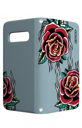 Case STAND VStyle Samsung S10 - Roses tattoo on light blue