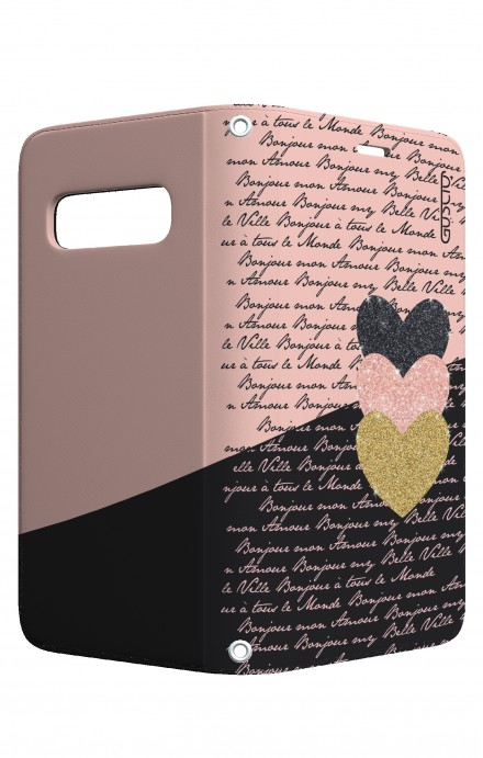 Case STAND VStyle Samsung S10 - Hearts on words