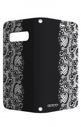 Case STAND VStyle Samsung S10 - Pizzo bianco e nero