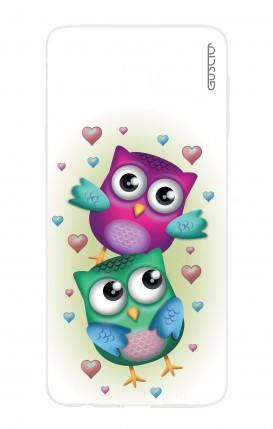 Cover Samsung Galaxy J4 Plus - Coppia di gufi