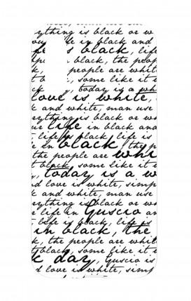 Cover HUAWEI P30 - Scritte in bianco e nero