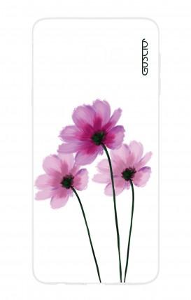 Cover Samsung Galaxy J4 Plus - Fiori su bianco