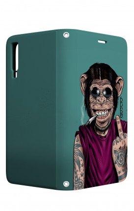 Case STAND VStyle Samsung A7 2018 - Monkey's always Happy