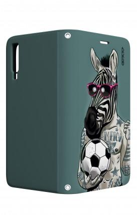 Case STAND VStyle Samsung A7 2018 - Zebra