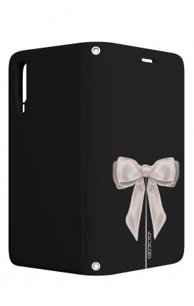 Case STAND VStyle Samsung A7 2018 - Satin White Ribbon