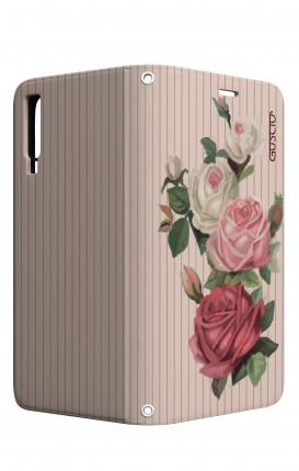 Case STAND VStyle Samsung A7 2018 - Roses and stripes