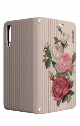 Cover STAND Samsung A7 2018 - Rose e righe