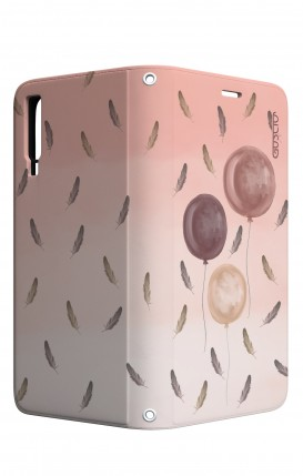 Cover STAND Samsung A7 2018 - 3 Palloncini rosa