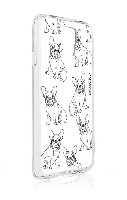 Cover Samsung Galaxy S5/S5 Neo - Bulldog francese pattern