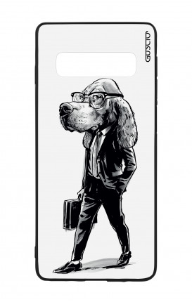 Samsung S10Plus WHT Two-Component Cover - Business dog