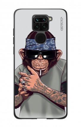 Cover Bicomponente Xiaomi Redmi Note 9 - Scimpanze con bandana
