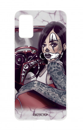 Cover TPU Samsung Galaxy A41 - Pin Up Chicana in auto