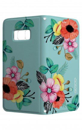 Cover STAND SAMSUNG S8 Plus - Bouquet azzurro