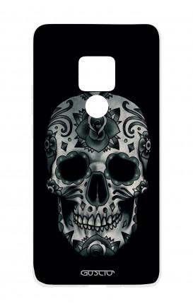 Cover TPU Huawei Mate 20 - Dark Calavera Skull