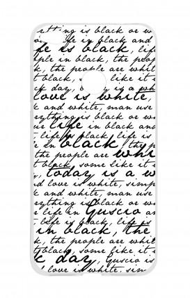 Cover HUAWEI P8 Lite (2017) - Scritte in bianco e nero