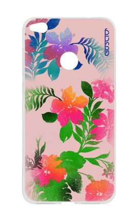 Cover HUAWEI P8 Lite (2017) - Flowers Pink