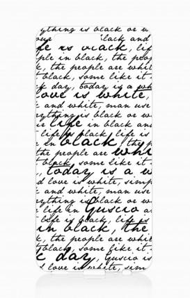 Cover HUAWEI P10 - Scritte in bianco e nero