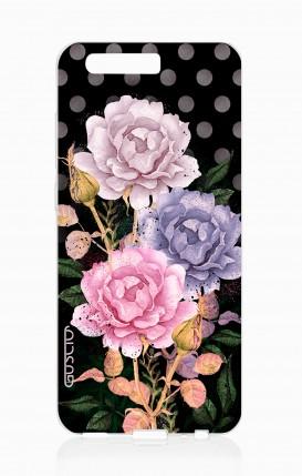 Cover HUAWEI P10 - Bouquet fondo a pois