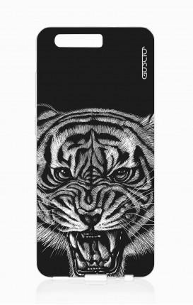 Cover TPU HUAWEI P10  - Tigre nera