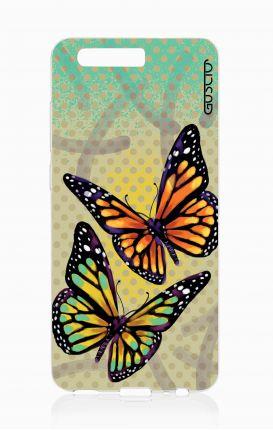Cover TPU HUAWEI P10  - Farfalle e pois