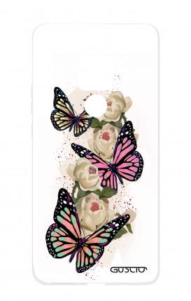 Case HUAWEI Mate 20 - Butterflies white