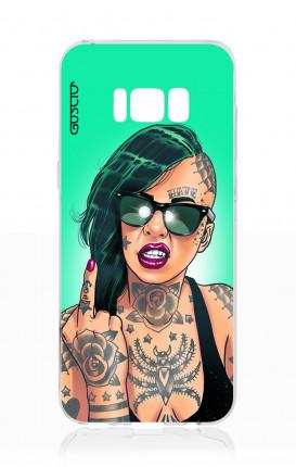 Cover TPU Samsung S8 - Ragazza capelli verdi