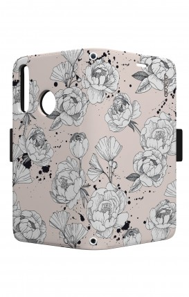 Case STAND VStyle EARS Huawei P30 Lite - Peonias