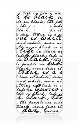Cover Samsung S8 - Scritte in bianco e nero